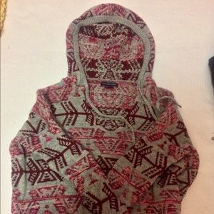 Tribal Printed Hooded Sweater