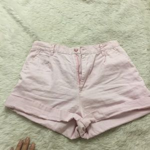 High waisted pink shorts