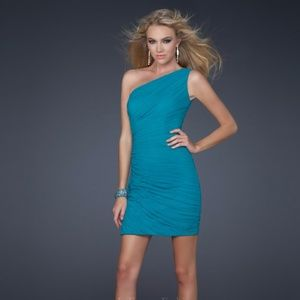 Dresses & Skirts - Authentic La Femme One Shoulder Mini Dress