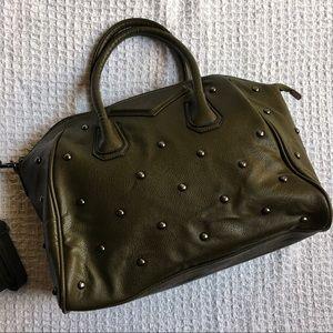Handbags - Like New Olive Green Studded Satchel