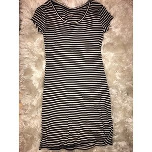 Black and white striped t-shirt dress!