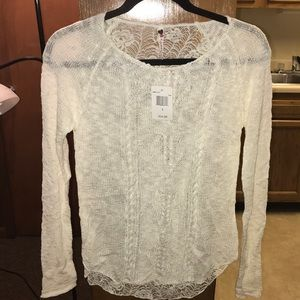 Sweaters - Cream Colored Top!