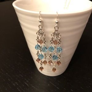 ❤️Baby Blue and Topaz Sterling Silver Earrings❤️