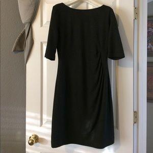 Trina Turk gray fitted dress sz 8