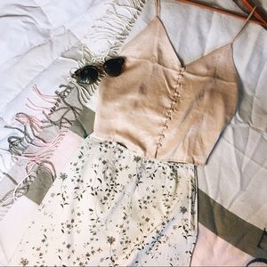 Brandy Melville Champagne Top