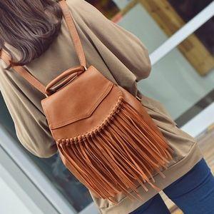 Handbags - X Coming Soon X Fringe Backpack