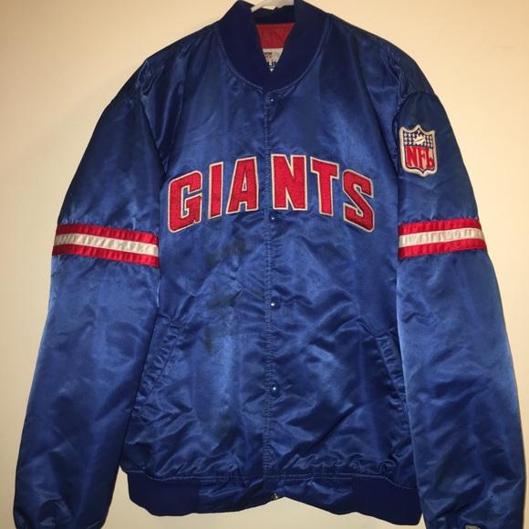 5014e936a Vintage 80s NY GIANTS NFL Starter Nylon Jacket. M 59ea82ae2599fe0a25012cf9