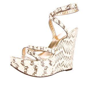 Dolce & Gabbana Python Wedges size 38