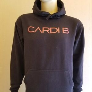 Other - Men Cardi B Black with Red Hoodie / Female Rapper
