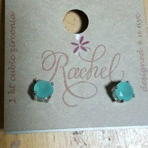 Rachel 1 KT cubic zirconia earrings