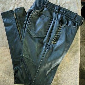 Easyriders black leather riding pants