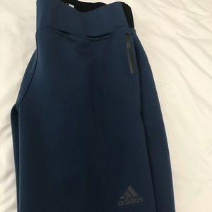 Adidas Baby blue black pants tapered drawstring XS