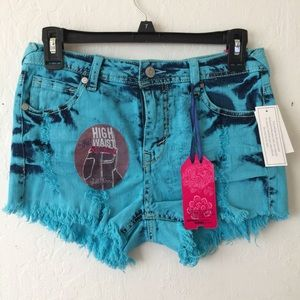 Jeans Shorts Pants High Waist New NWT size 7