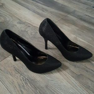 Black Stiletto Heel Pump
