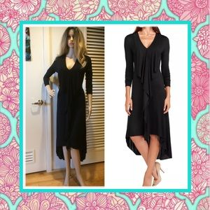 🍒 New Black long maxi dress with long sleeves