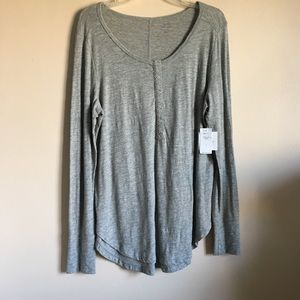 Banana Republic Grey Slubbed Lounge Henley