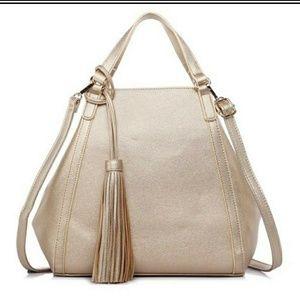 Large champaigne gold handbag or tote