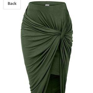 Olive Knot Skirt