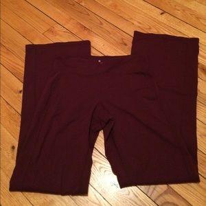 Purple Athleta yoga pants