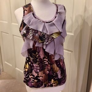 Anthropologie One September Ruffle Tank  SZ S