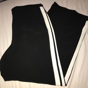 Black and White Dress Track Pant