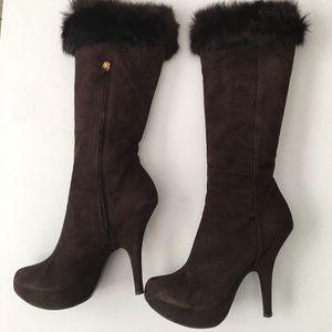 Giuseppe Zanotti Design Women Brown Suede Boots