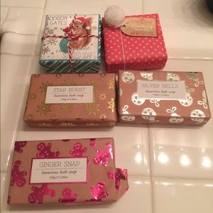 5 Brand New Bars of Holiday Soaps