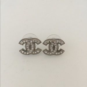 CHANEL A37272 double CC logo earring with receipt