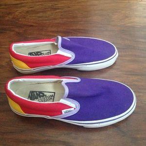 Vans Custom Design slip on shoes.