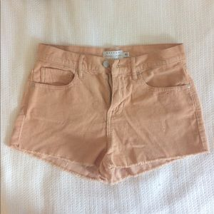 Kendall + Kylie curt off corduroy  pink shorts