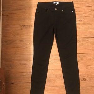 Paige Verdugo Ankle Black Velvet Skinny Pant 28