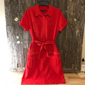 Red shirt dress with pockets!!