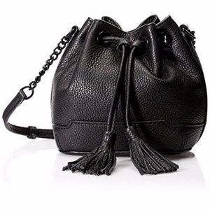 Rebecca Minkoff Micro Lexi Bucket Bag Black NEW