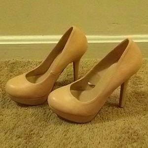 Peach 5-inch High Heel Pump