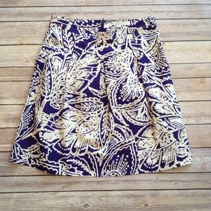 Loft purple & beige linen skirt