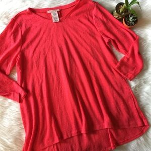 Philosophy Red Long Sleeve Soft Sweater