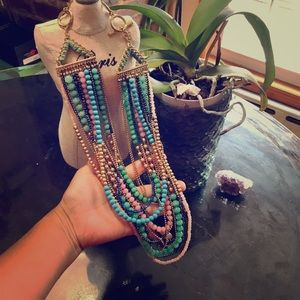 Stella & Dot Zahara Bib Beaded Necklace