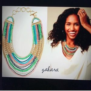 Stella & Dot Zahara Bib Beaded Necklace