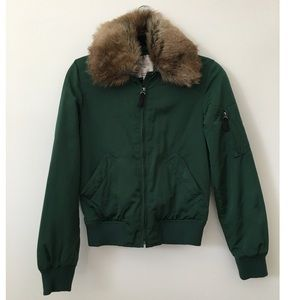 Zara fur bomber jacket