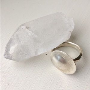 Modern silver ring