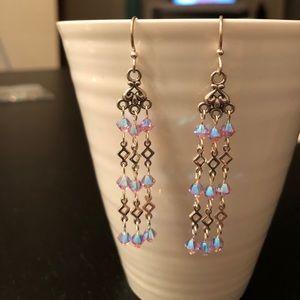 🌸Sterling Silver Earrings Swarovski Crystal Beads