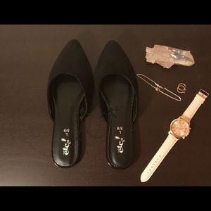 Black Mule Shoes