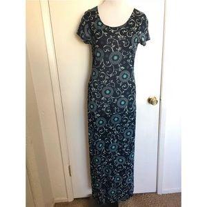 Vintage 90's Tuolumne Maxi Dress Large