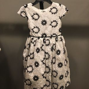Pippa & Julie formal white/black girls dress