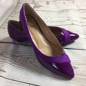 Formal/Work Wear Pu-Leather Pointy Short Heel