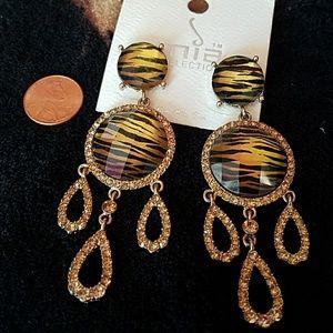 Fashion topaz crystal earrings