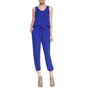 Theory Lortan W Double Georgette Silk Jumpsuit