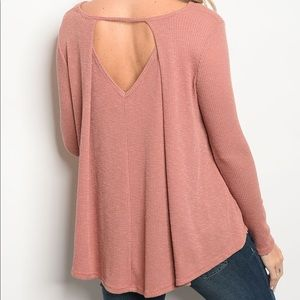 | ROSÉ CUT OUT KNIT TOP |