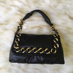 Michael Kors Black with Gold Chain Bag