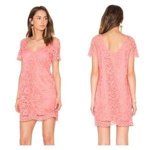 BB Dakota lace Renee shift dress in cantaloupe